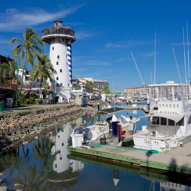 """""""Marina, Puerto Vallarta, Jalisco, Mexico, North America"""" stock image"""