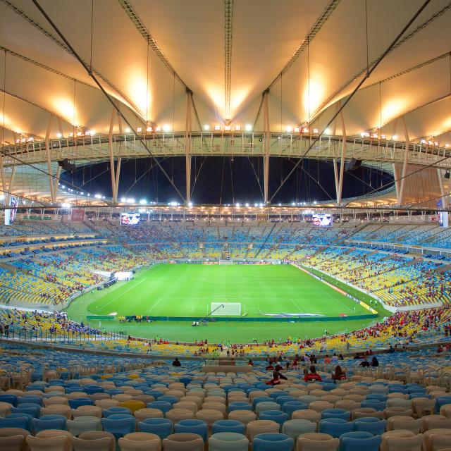 """""""The Maracana Stadium, Rio de Janeiro, Brazil, South America"""" stock image"""