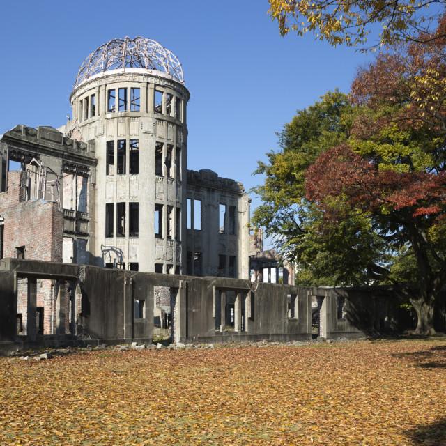 """Atomic Bomb Dome, UNESCO World Heritage Site, Hiroshima, Western Honshu,..."" stock image"