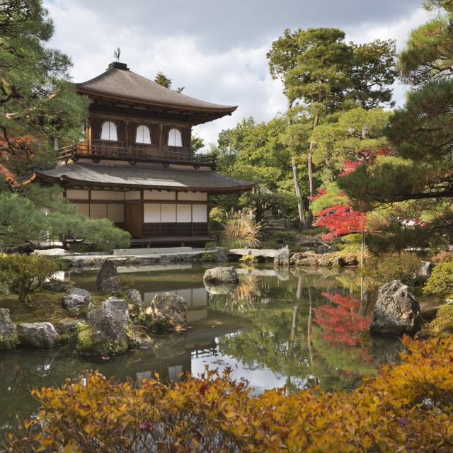 """""""The Silver Pavilion, Buddhist Temple of Ginkaku-ji, Northern Higashiyama,..."""" stock image"""