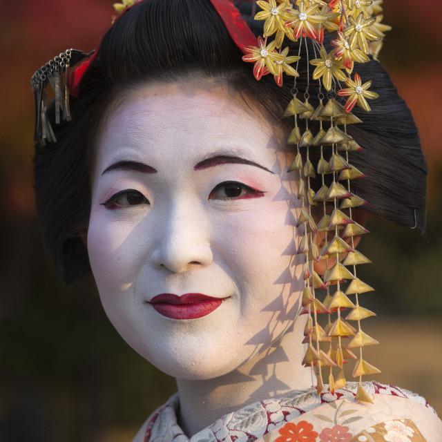 """Japanese Geisha, Kyoto, Japan, Asia"" stock image"