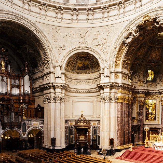 """""""Interior of Berlin Cathedral, Berlin, Germany, Europe"""" stock image"""