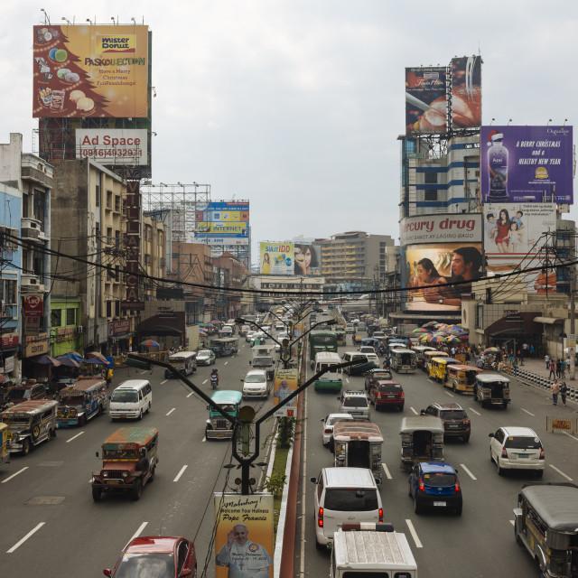 """Quezon Boulevard, Quiapo, Manila, Philippines, Southeast Asia, Asia"" stock image"