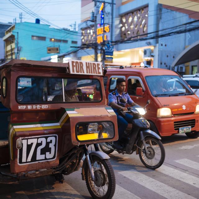 """Tuk tuk, Tagbilaran, Bohol Island, Visayas, Philippines, Southeast Asia, Asia"" stock image"