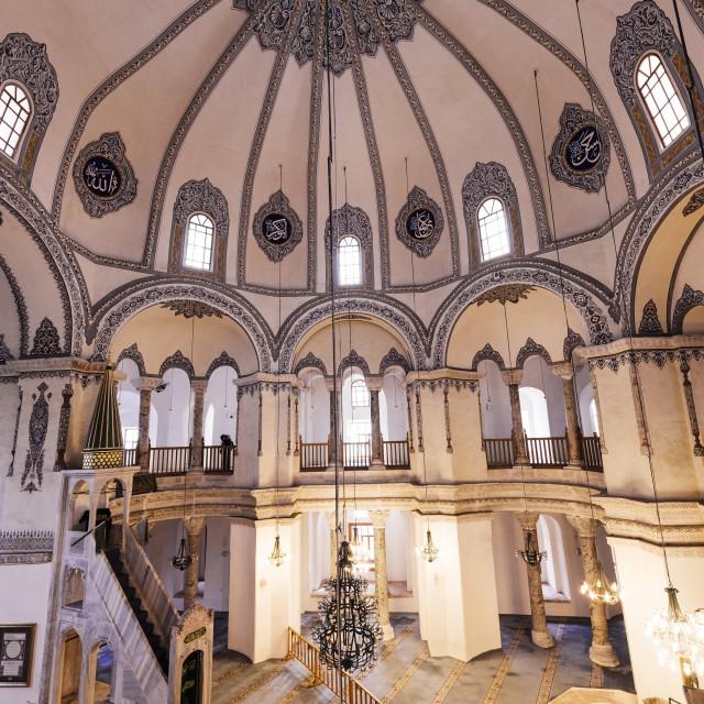 """""""Interior of Little Aya Sofya Mosque (Kucuk Ayasofya Camii), Sultanahmet,..."""" stock image"""