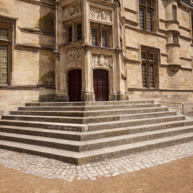 """""""The Ducal palace in Nevers, France. It dates from the 15th and 16th centuries."""" stock image"""