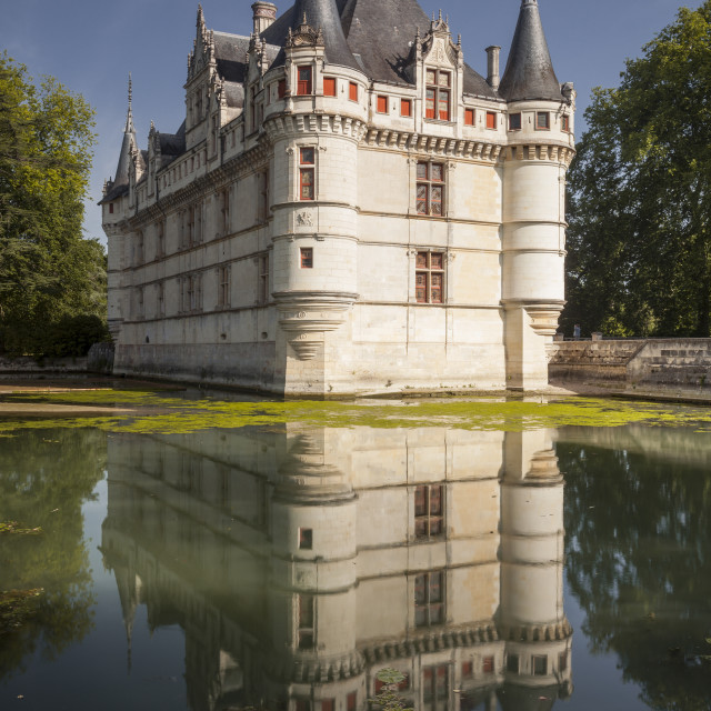 """One of the earliest renaissance chateaux standing today, the castle at..."" stock image"