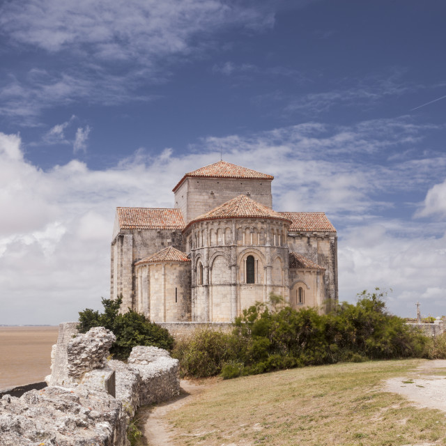 """Saint Redegonde church, Talmont, Charente-Maritime, France, Europe"" stock image"