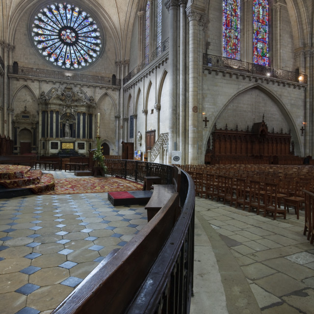 """""""Angers cathedral, Angers, France."""" stock image"""