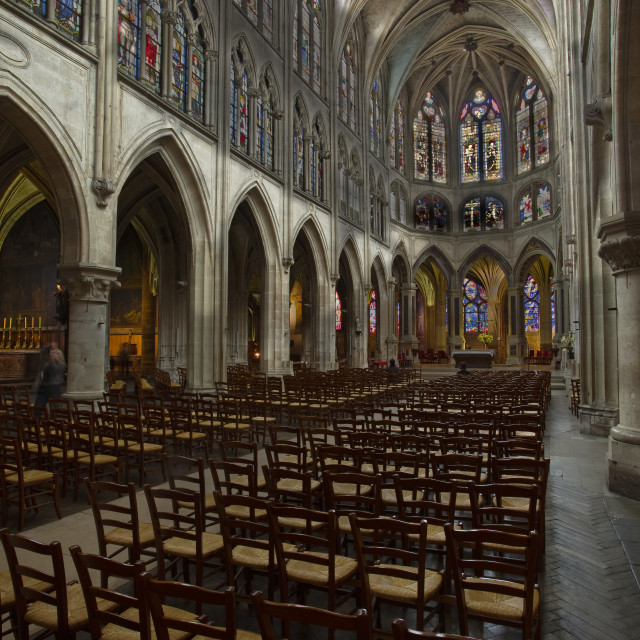 """The church of Saint Severin in Paris, France."" stock image"