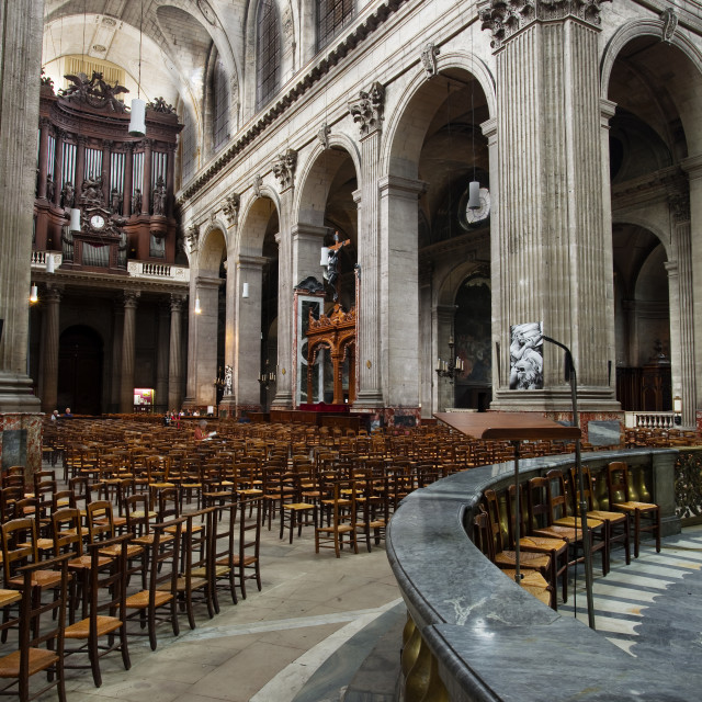 """The church of Saint Sulpice in Paris, France."" stock image"