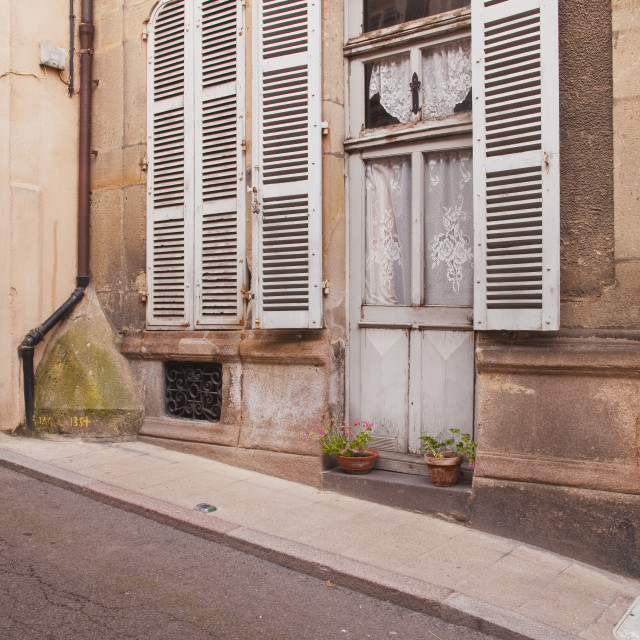 """""""An old house in the town of Autun, Burgundy, France."""" stock image"""