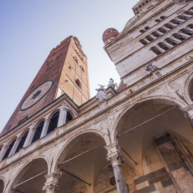 """The Duomo di Cremona or cathedral."" stock image"