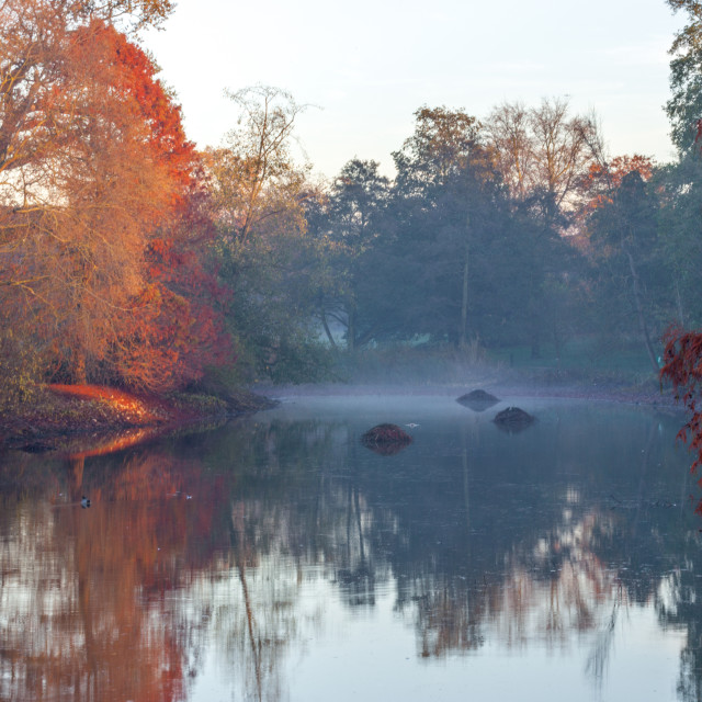 """Autumn in Kew Gardens, UNESCO World Heritage Site, Kew, Greater London,..."" stock image"