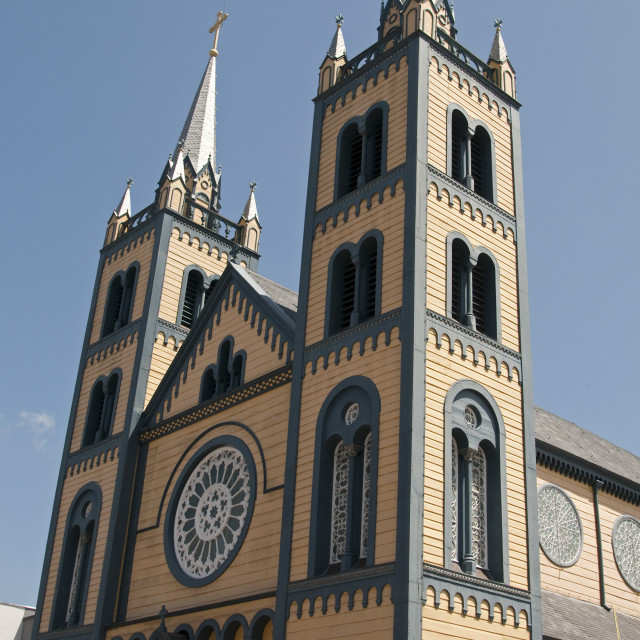 """""""St. Peter and Paul's Cathedral in Paramaribo, claimed to be the biggest and..."""" stock image"""