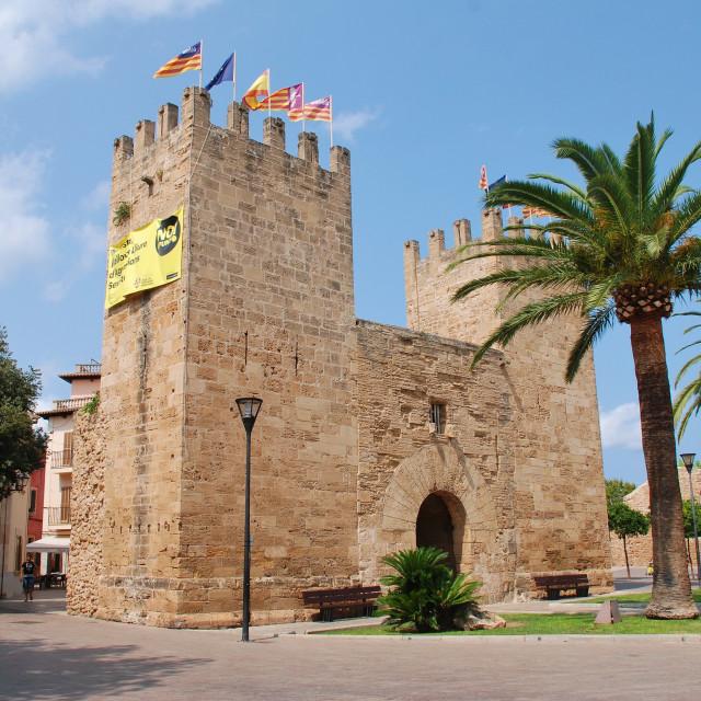 """Xara Gate, Alcudia, Majorca"" stock image"