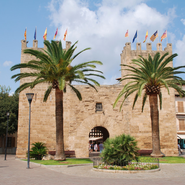 """Xara gate in Alcudia, Majorca"" stock image"