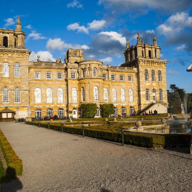 """""""Blenheim Palace, UNESCO World Heritage Site, Woodstock, Oxfordshire, England,..."""" stock image"""