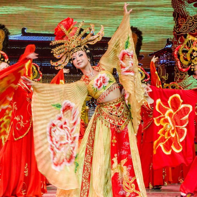 """Tang Dynasty Stage Show, XIan, China, Asia"" stock image"