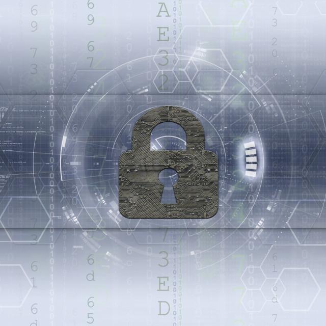 """Network & Computer security artwork 2 light"" stock image"