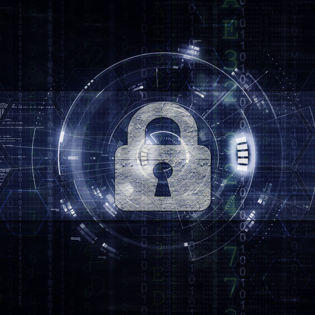 """Network & Computer security artwork 2 dark"" stock image"