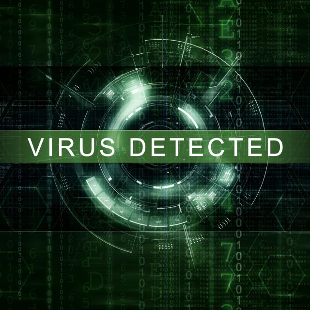 """""""Virus Detected artwork"""" stock image"""
