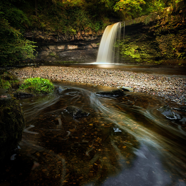 """Sgwd Gwladus waterfall AKA Lady Falls"" stock image"
