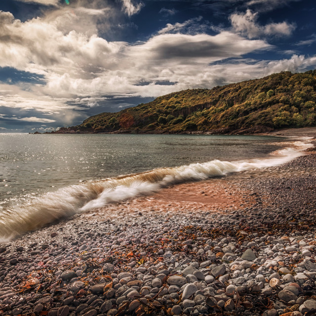 """Pwll Du Bay Gower peninsula"" stock image"