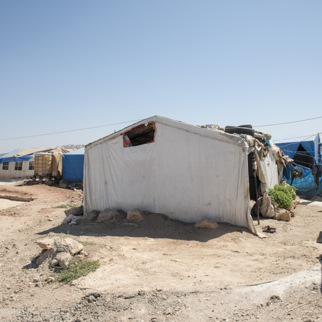 """unofficial refugee camp in Reyhanli"" stock image"