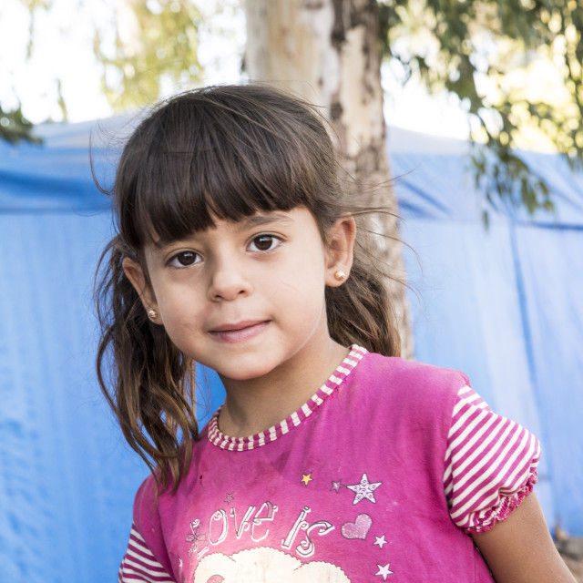 """people in unofficial refugee camp"" stock image"