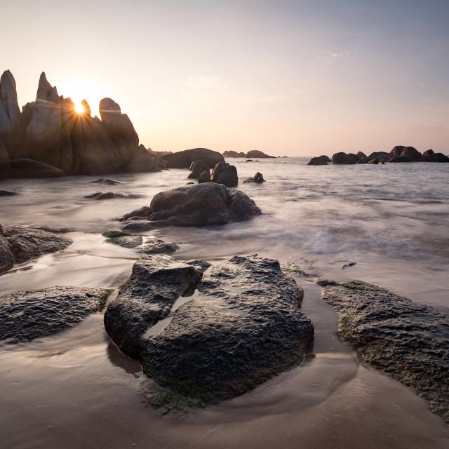 """""""Ke Ga beach at dawn"""" stock image"""
