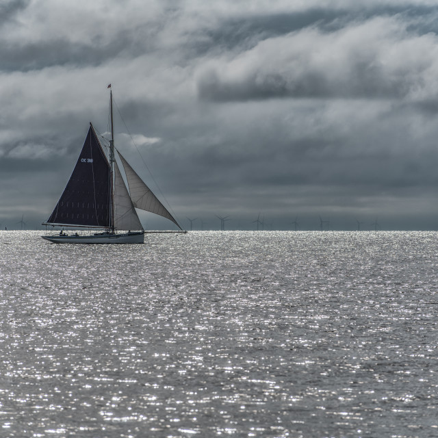 """Sailing Past Frinton On Sea"" stock image"