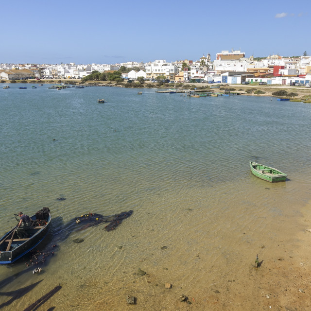 """Fishing port of Barbate, Province of Cadiz, Andalusia, Spain"" stock image"