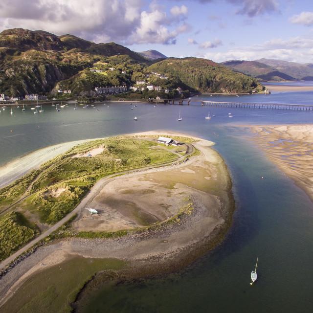 """The Mawddach Estuary"" stock image"