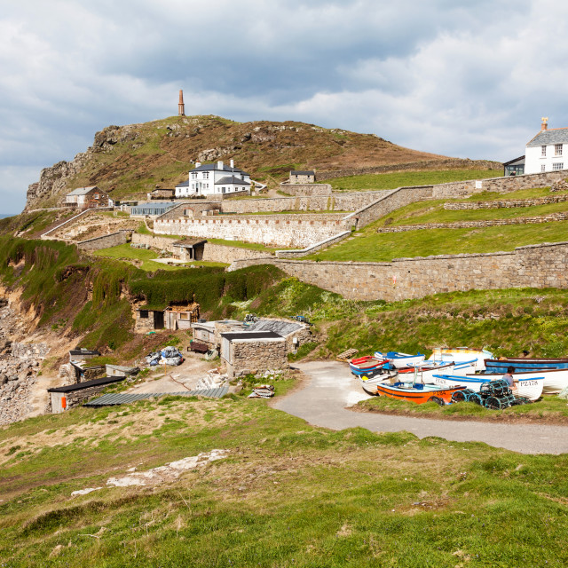 """Cape Cornwall near to St. Just Cornwall South West England UK"" stock image"