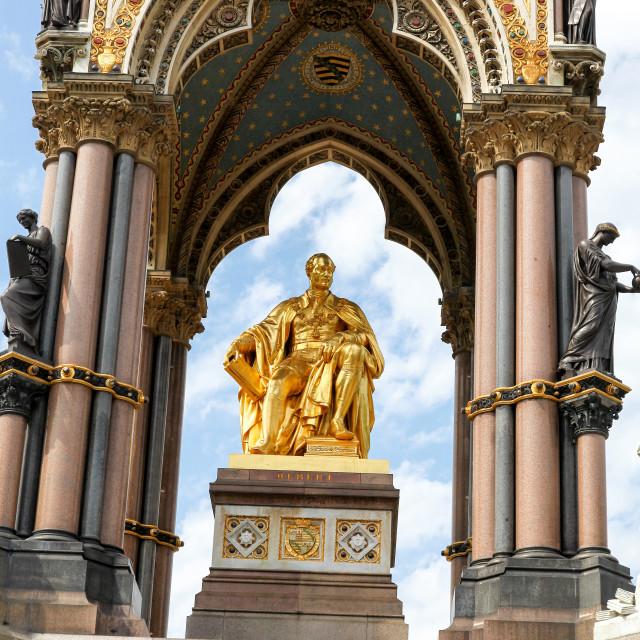 """The Albert Memorial Kensington Gardens, London, England, UK"" stock image"