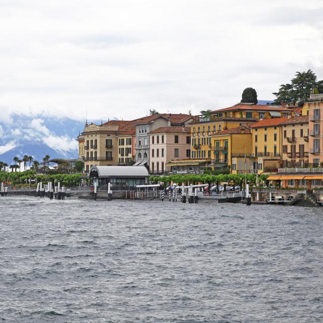 """Bellagio Lake Como Lombardy Italy"" stock image"