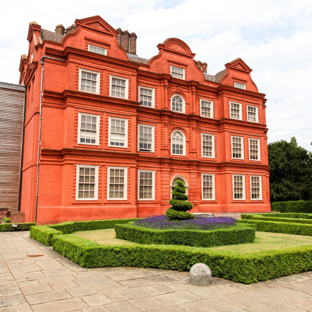 """Kew Palace or The Dutch House is a British royal palace in Kew G"" stock image"