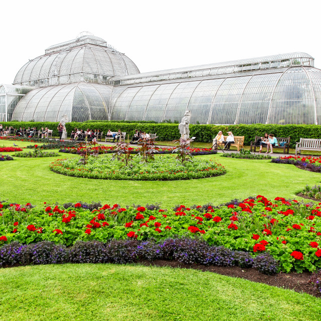 """The Palm House at Kew Royal Botanical Gardens London England UK"" stock image"