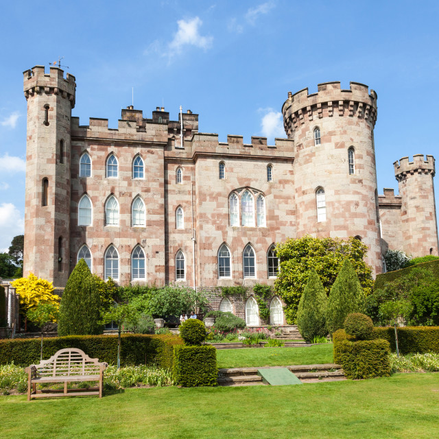 """Cholmondeley Castle country house Cholmondeley, Cheshire, Englan"" stock image"