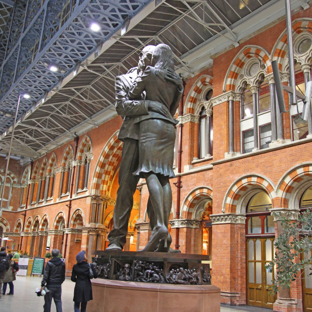 """The Meeting place at St Pancras International railway station Lo"" stock image"