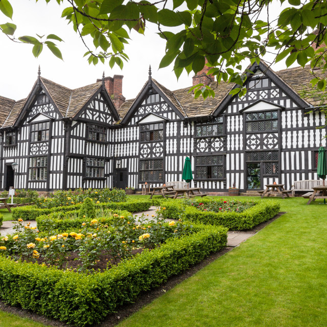 """The Old Hall Hotel, High Street, Sandbach, Cheshire, England, UK"" stock image"