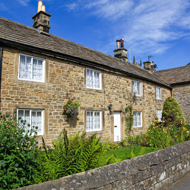 """Rose Cottage where nine members of the Thorpe family died of bub"" stock image"