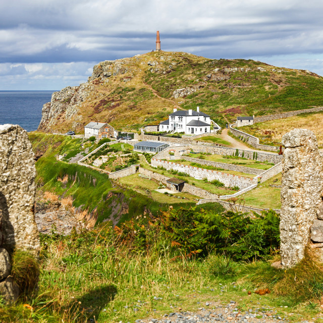 """The headland at Cape Cornwall, Cornwall, South West England, UK"" stock image"