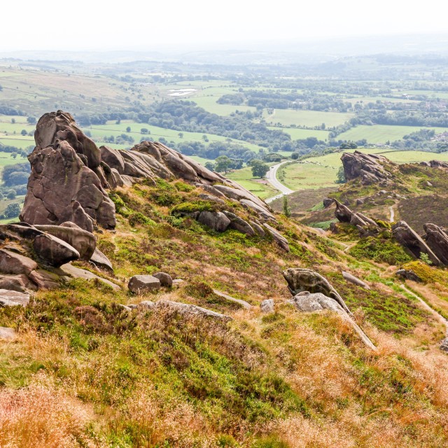 """Ramshaw Rocks The Roaches Staffordshire"" stock image"