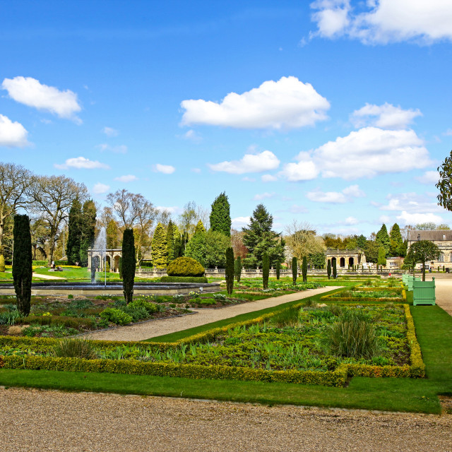 """The formal Italianate gardens at Trentham Gardens Stoke-on-Trent"" stock image"