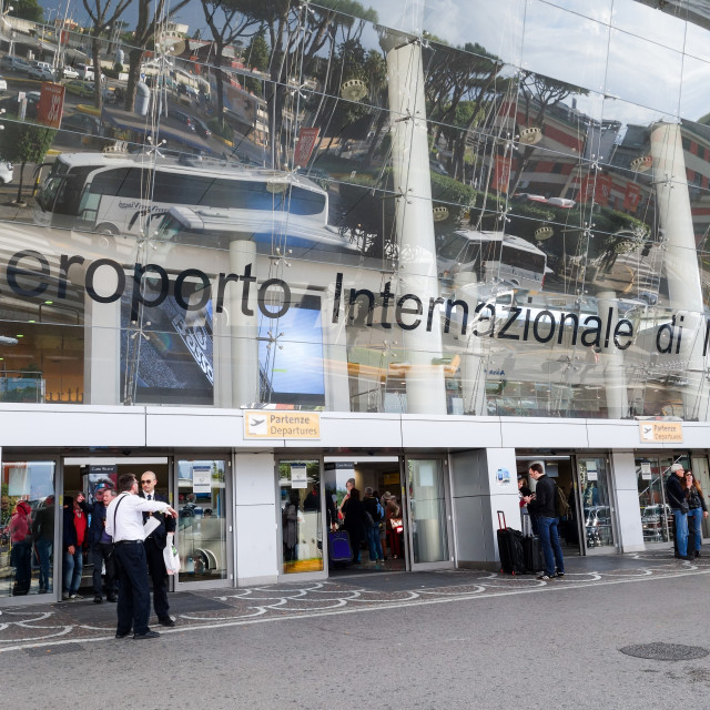 """The entrance to Naples International Airport Italy Europe"" stock image"