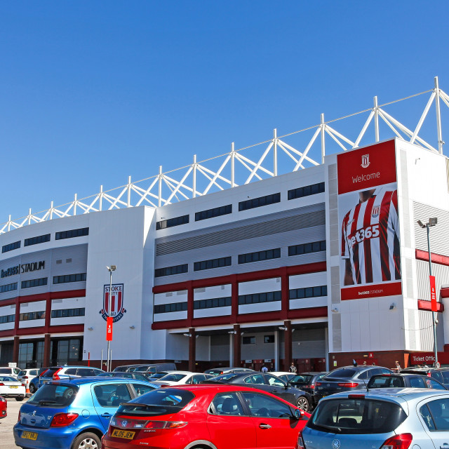 """The bet365 Stadium home ground of English Premier League footbal"" stock image"