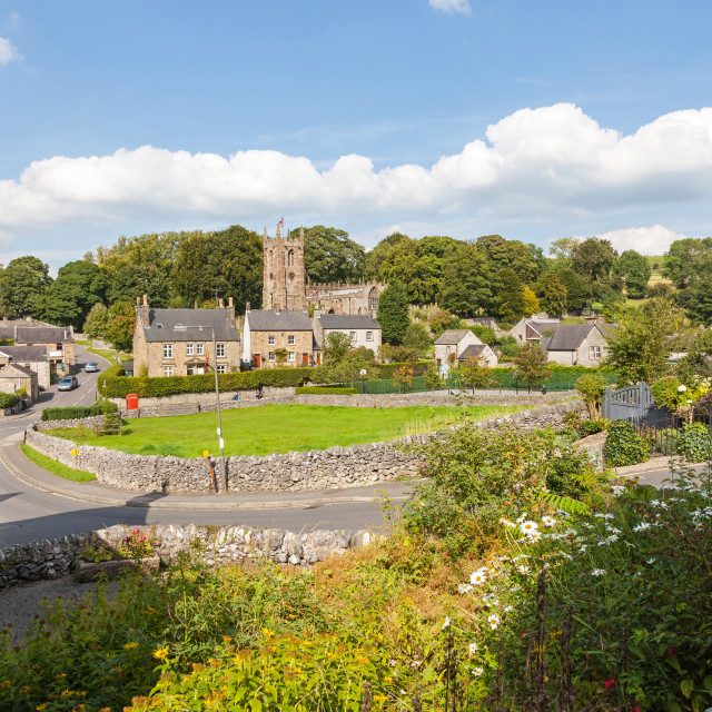 """The village of Hartington, Derbyshire, England, United Kingdom"" stock image"
