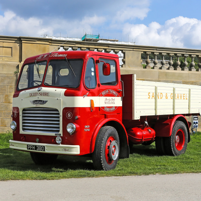 """1956 Leyland Comet in the livery of B.W.Thomas reg no - PFH 380"" stock image"